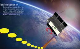 Art concept of IceCube satellite in orbit
