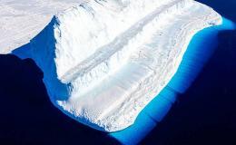 An ice glacier.
