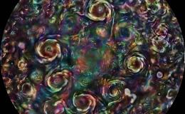 Colorful composite image of Jupiter