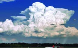 Photo of a deep convection cloud