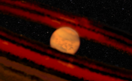 A young brown dwarf sits in the center of a debris disk.