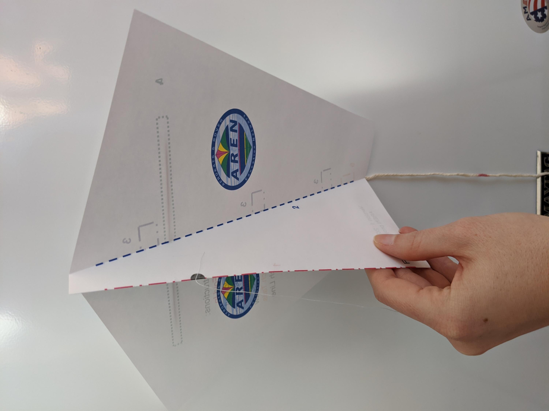 Paper kite template