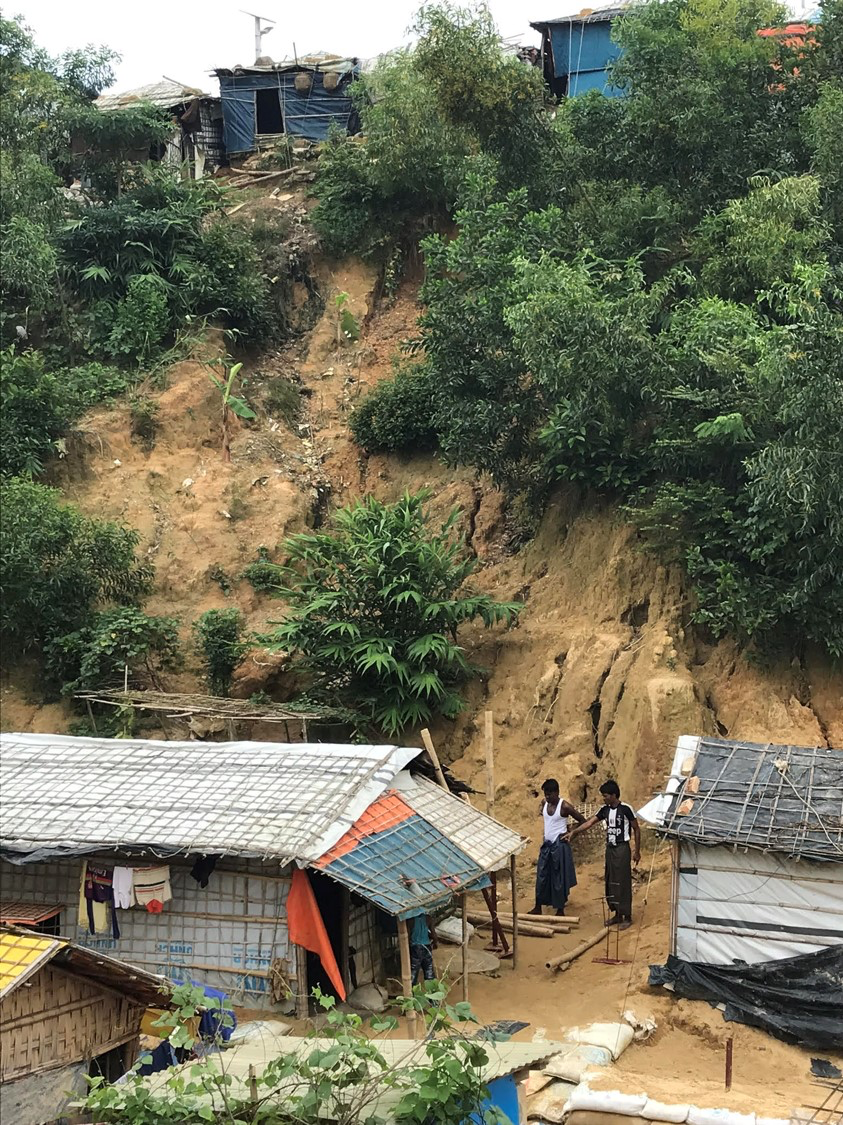 Photo of refugee camp in Bangladeshi's hillside