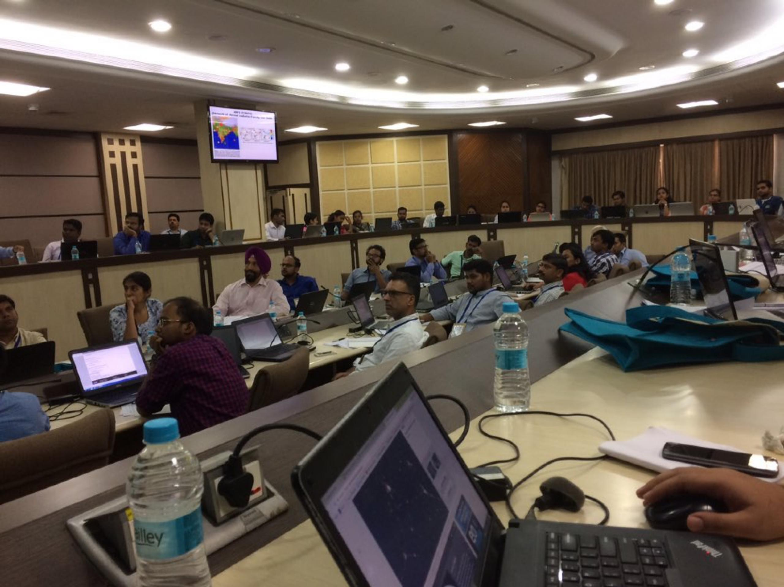 Photo of group of people attending air quality training