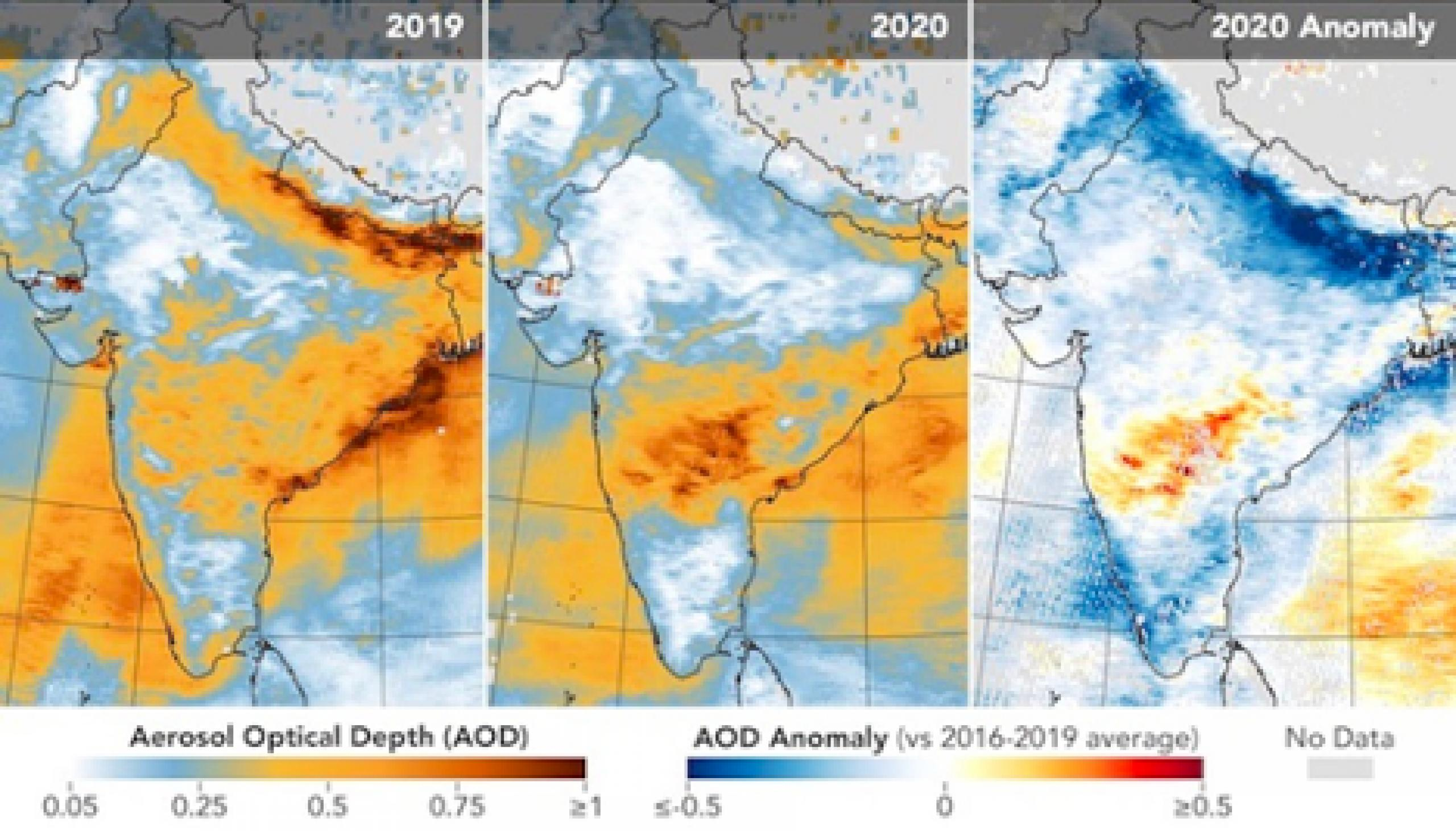 Satellite data of earth's environment and atmosphere