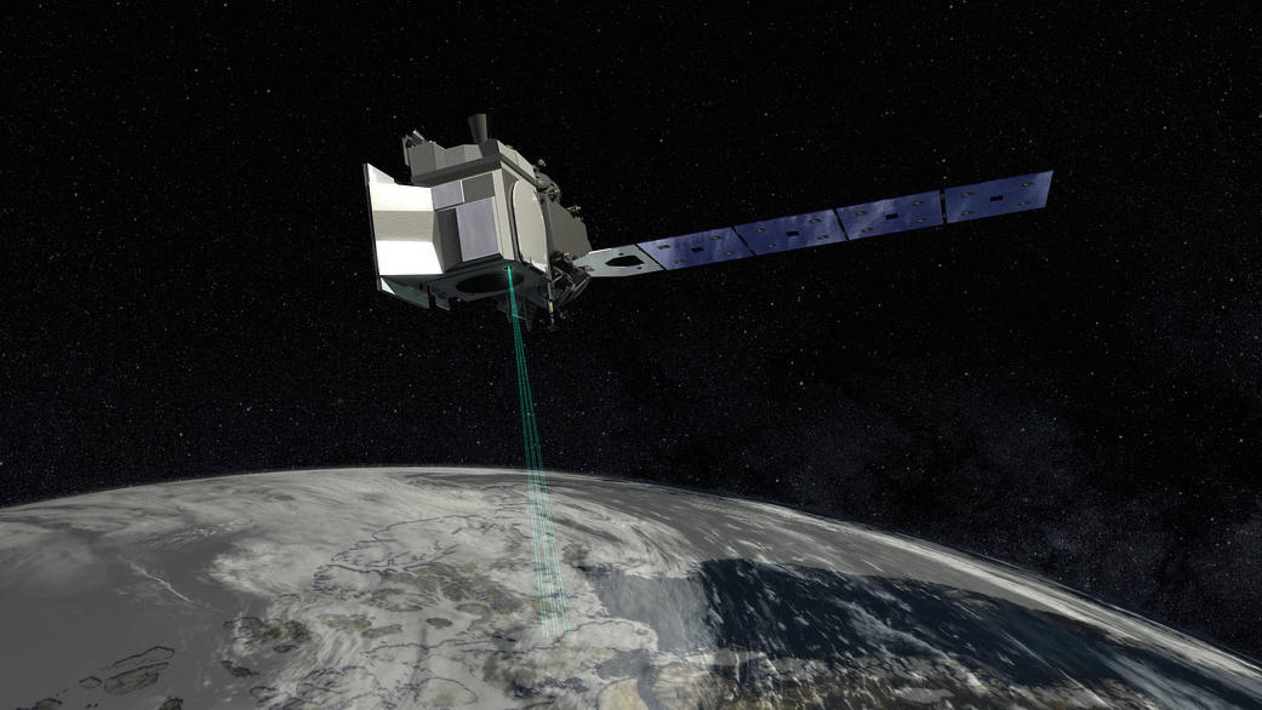 IceSat-2 satellite illustration