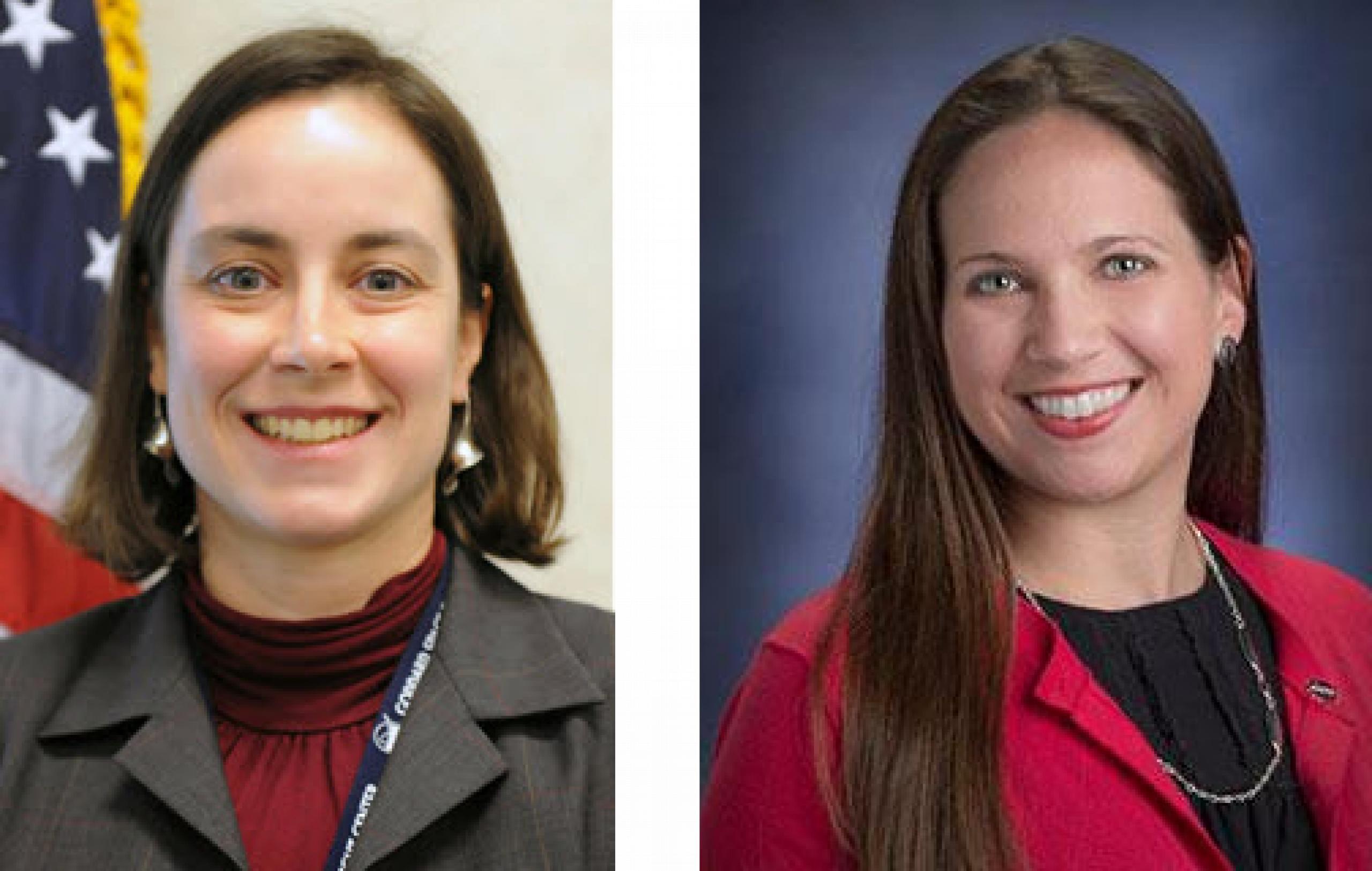 Portrait photo of two women