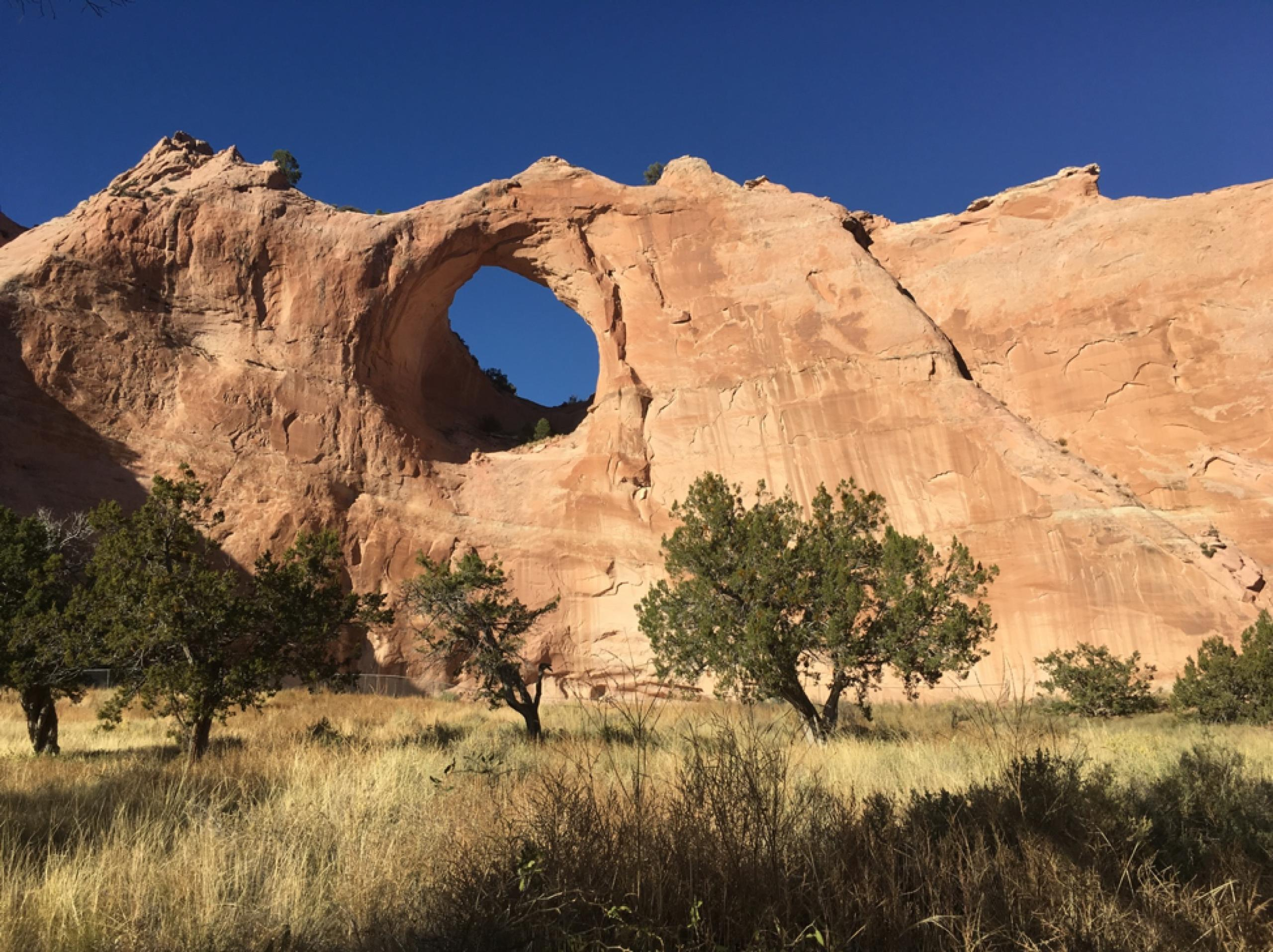 Photo of rock formation on Navajo Nation