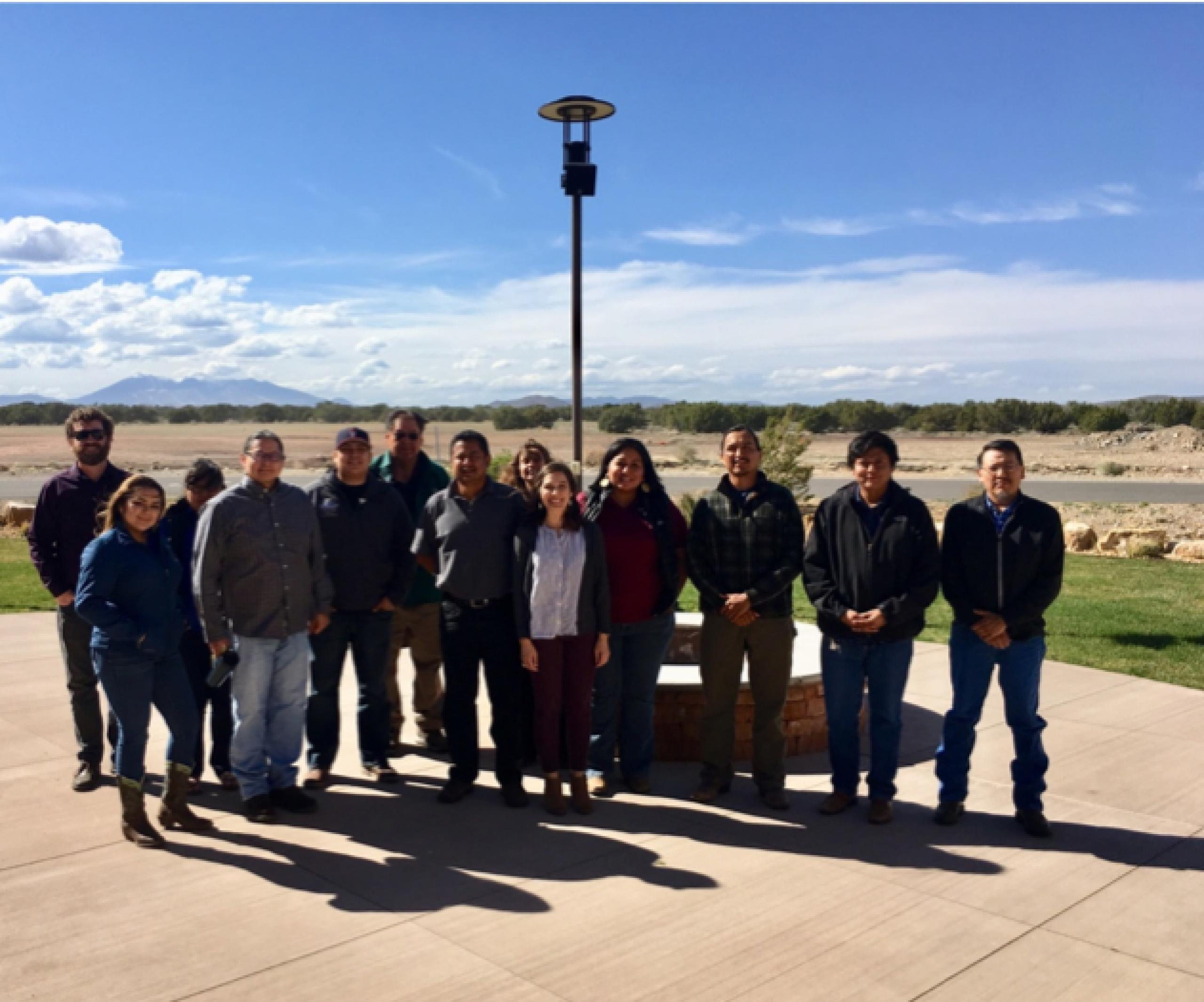 Photo of attendees of the Navajo Nation