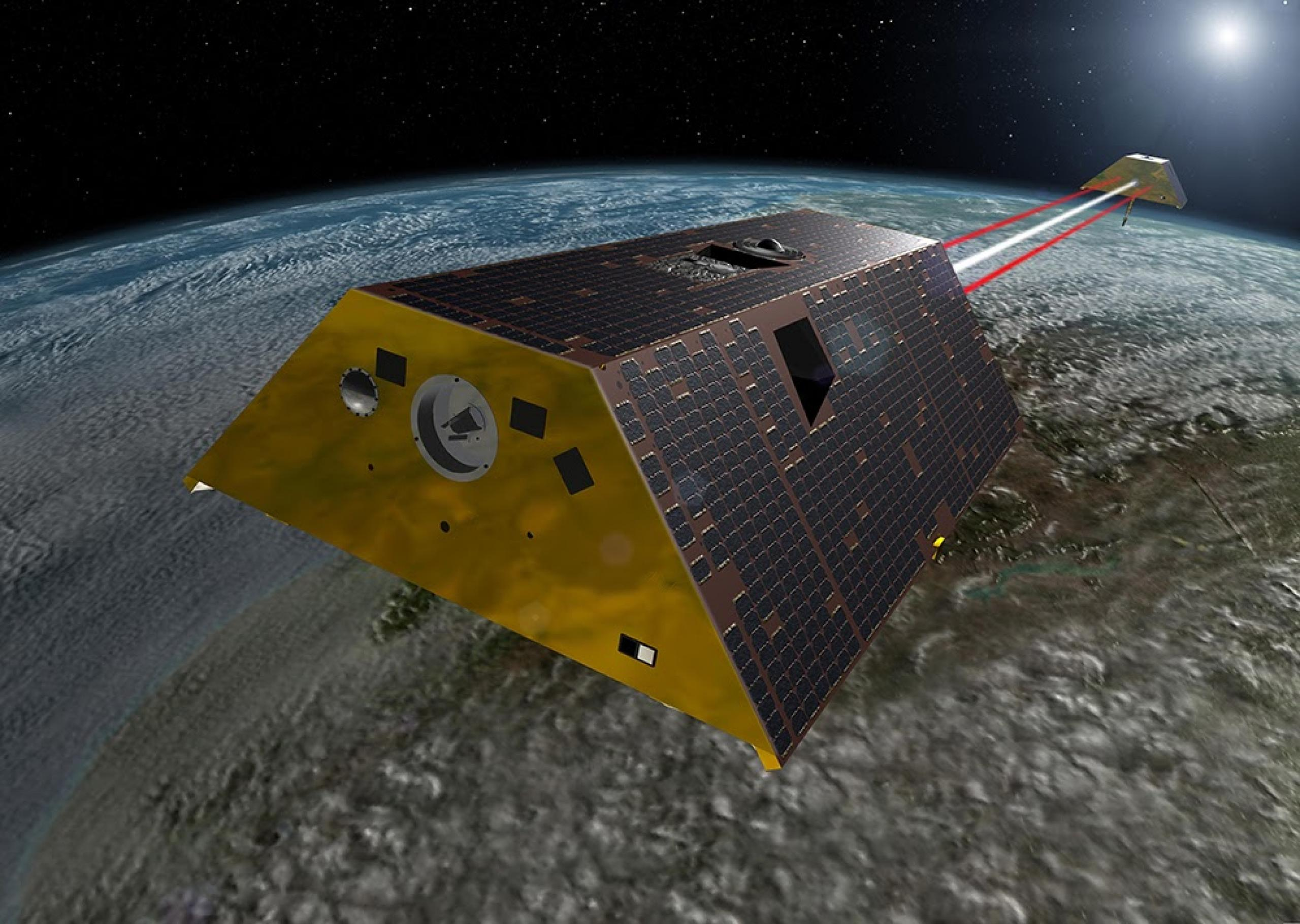 Artist concept of spacecraft orbiting the earth