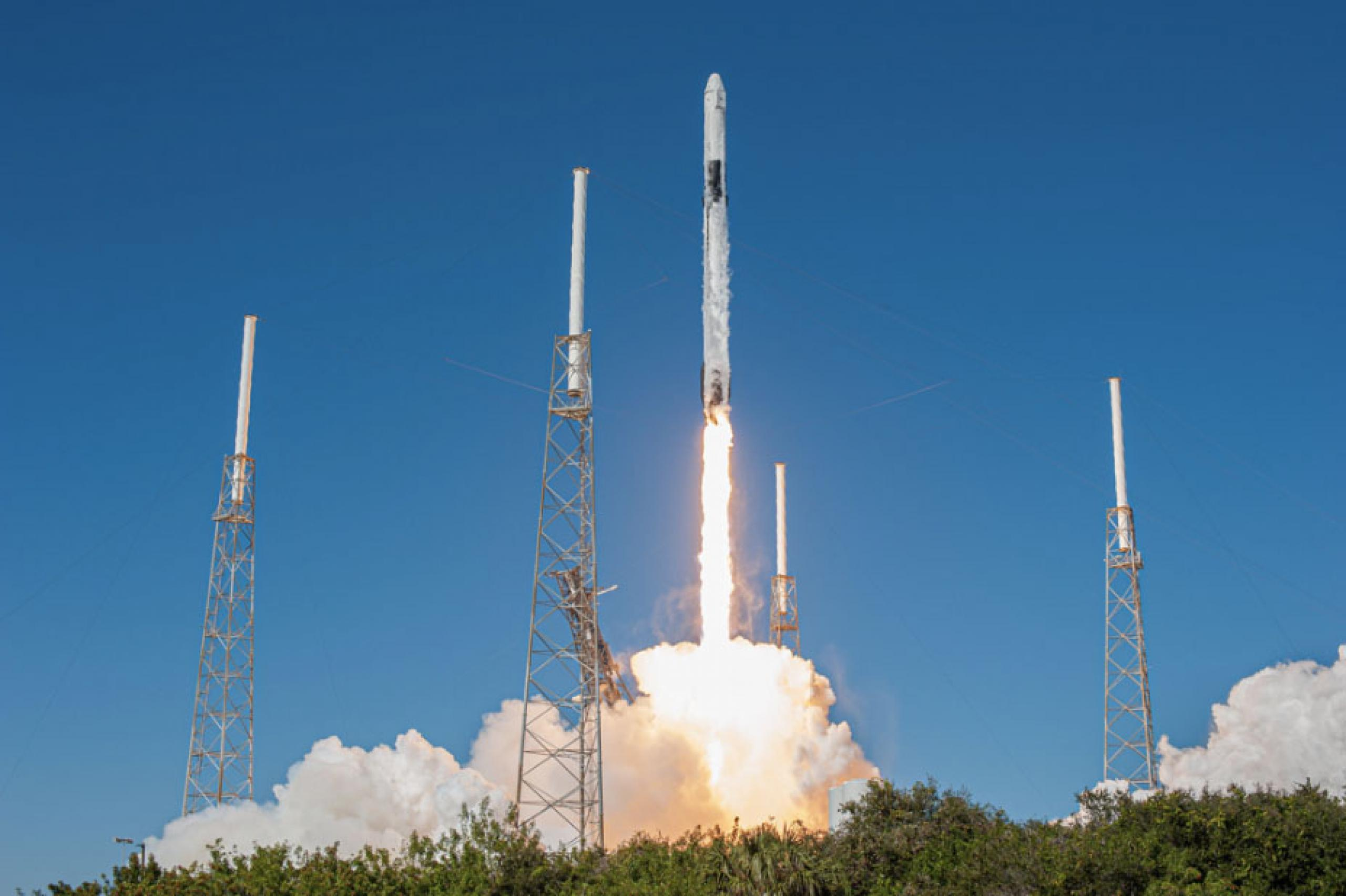 Photo of CIRiS taking off on a rocket in Cape Canaveral