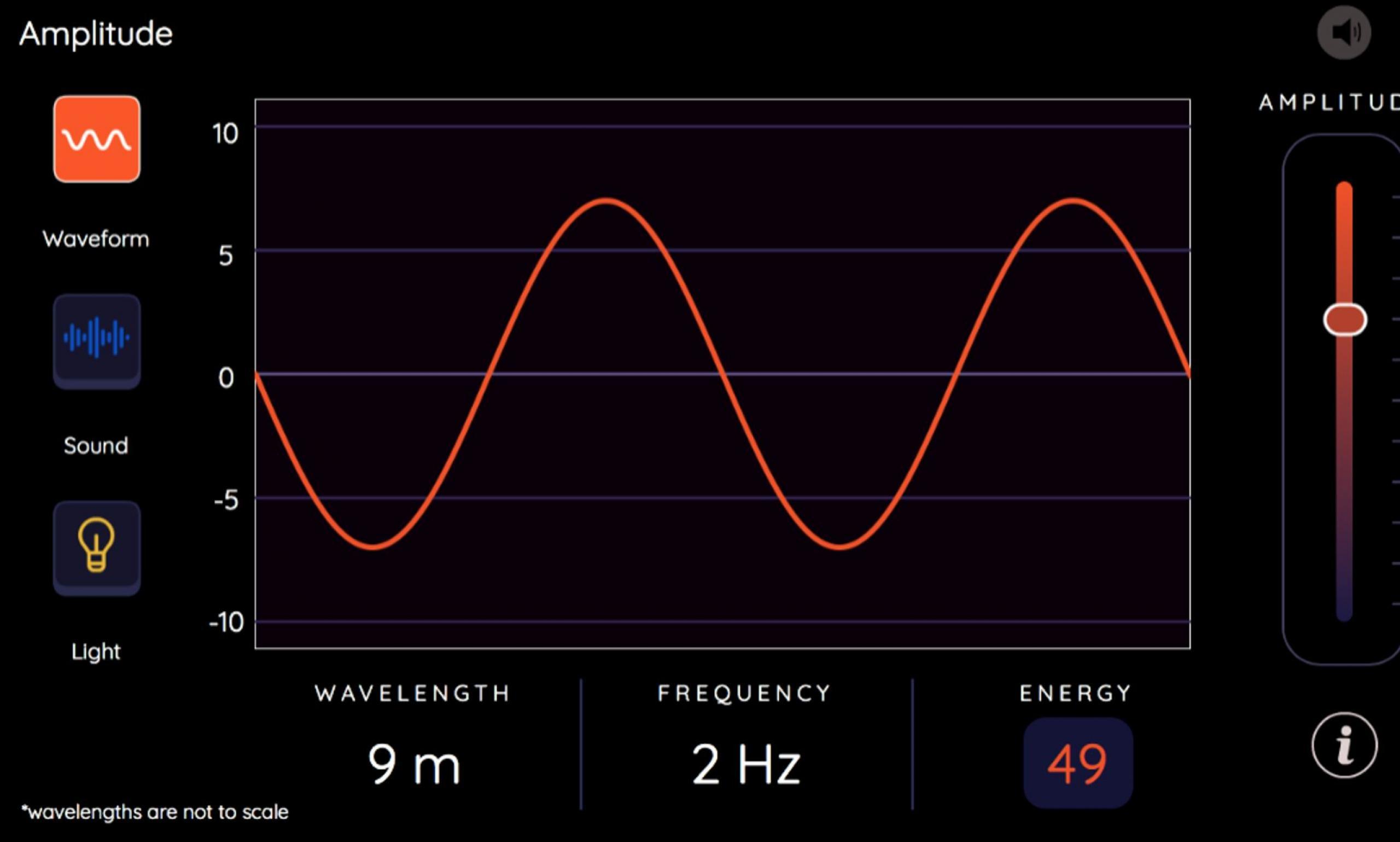 Screenshot from a waveform app