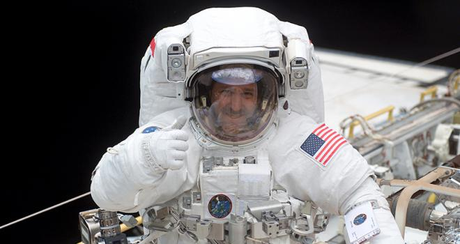 Photo of man in space suit