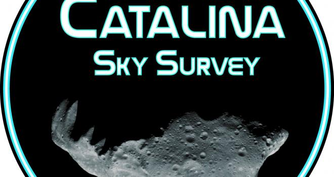 Catalina Outer Solar System Survey logo with asteroid