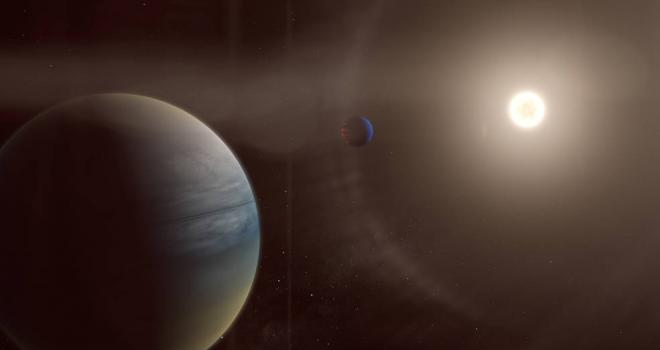 Two gaseous planets orbit the bright star