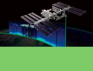 Remote sensing satellite illustration