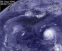 GOES-8 view of Bonnie