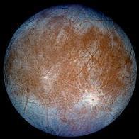 false color image of Europa