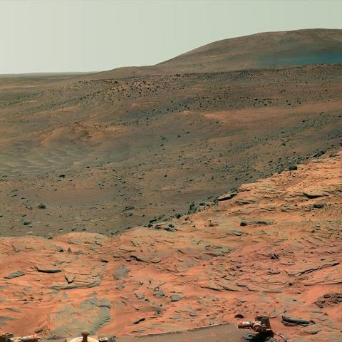 Mars Exploration Rover - view from Spirit