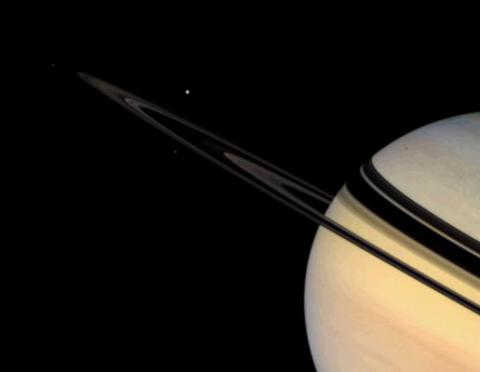 Saturn's icy moons