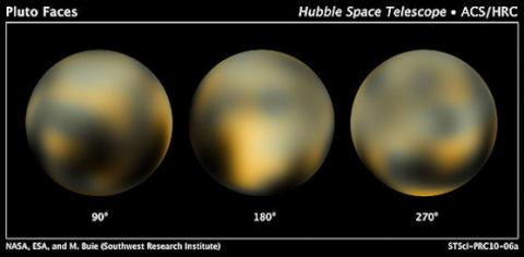 The best-ever Hubble images of Pluto.