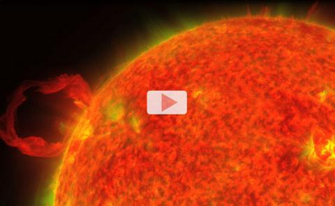 March 30 2010 SDO Erupting Prominence