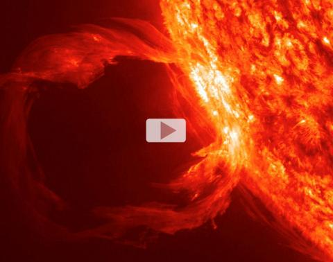March 30 2010 SDO Erupting Prominence Video Strip 764