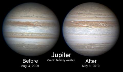 Jupiter Loses a Stripe (Before and After, 568px)