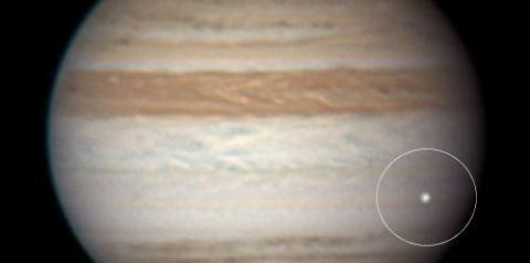 Jupiter Impact (Anthony Wesley flash, 500px)