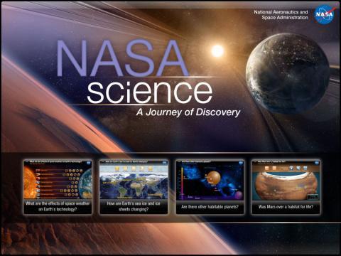 NASA Science App Landing
