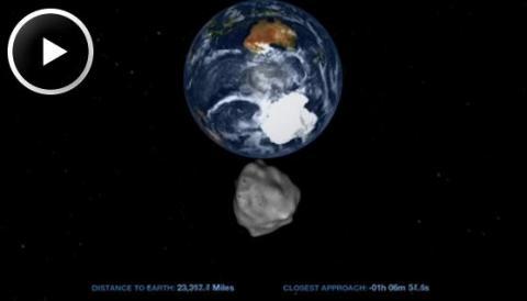 NASA Broadcasts 2012 DA14 (splash)