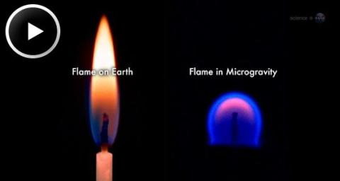 Strange Flames on the ISS