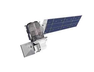View from above the Landsat 9 spacecraft