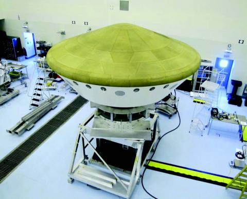 Photo of the Curiosity Rover aeroshell
