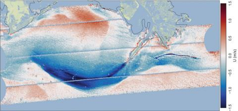 Diagram of ocean surface current