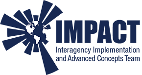 Logo for IMPACT, Interagency Implementation and Advanced Concepts Team