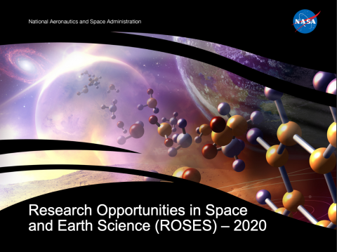 Graphic collage of science research imagery in the earth's atmosphere