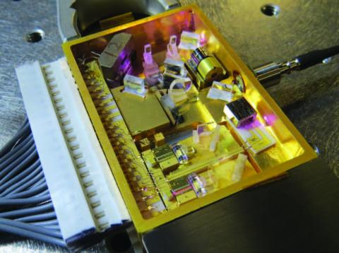 Photo of Final product of the Phase 1 master oscillator package