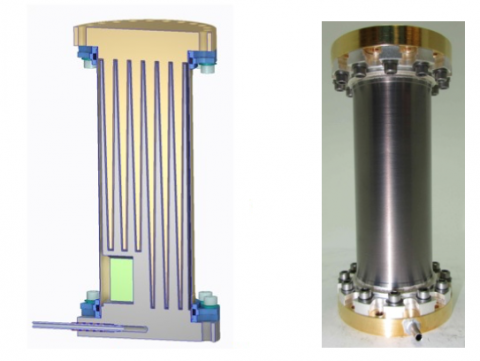 Illustration and photo of heat switch