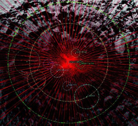 diagram of LunaH-Map orbit tracks