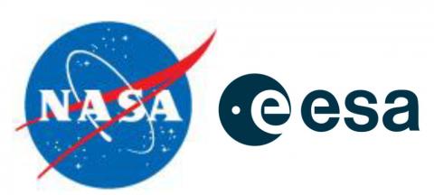 NASA and ESA logos
