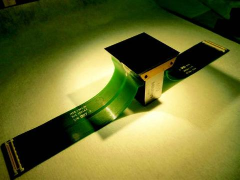 Photo of 2-D and AR-coated n-channel CCD