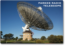 Photograph of a giant dish antenna.