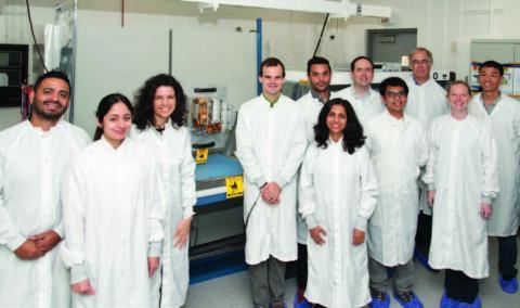 photo of RainCube team in JPL lab