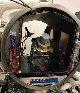 Photo of science equipment installed inside a chamber