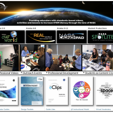 NASA eClips Overview with a mission statement, programs, thumbnails, and cover pages.