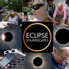 collage of the eclipse and people