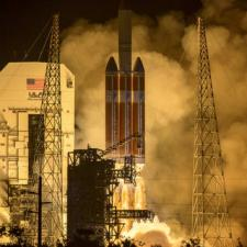 Launch photo of the Parker Solar Probe