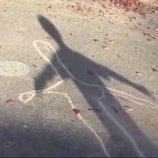 Chalk outline of shadow