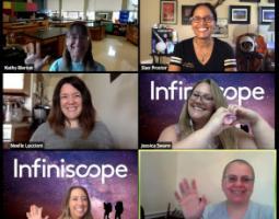 Screenshot of six webinar attendees